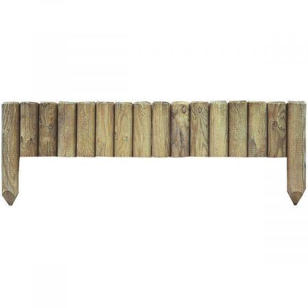 Bordure en bois traité autoclave 3 contre insectes et moisissures 35x112cm  - PINEDE