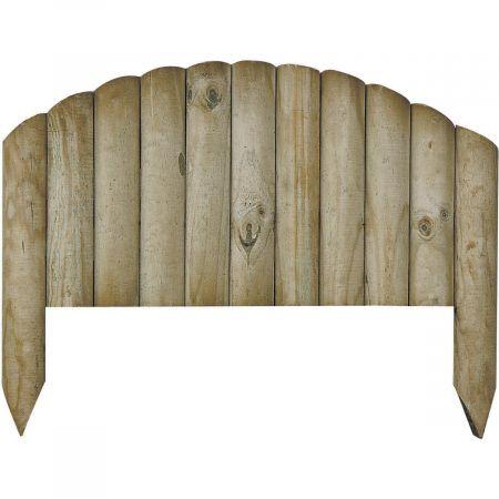 Bordure en bois traité autoclave 3 arquée retenue de terre 2,5x55x40cm - BOCAGE