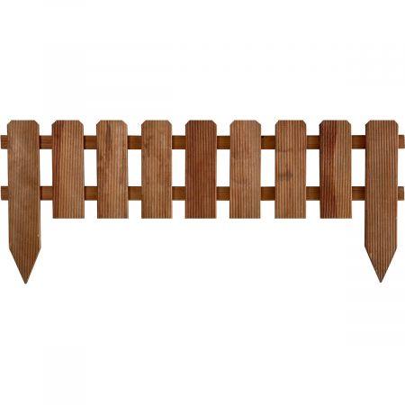 Bordure en bois traité marron de style clotûre - PANORAMA
