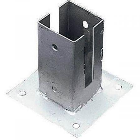 Supports pour sol en acier galvanisé pour panneaux en bois 7x7x15 cm - Forest-Style