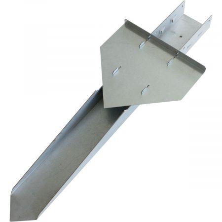 Support en acier à planter ou à sceller 7x7x76cm - Rafale