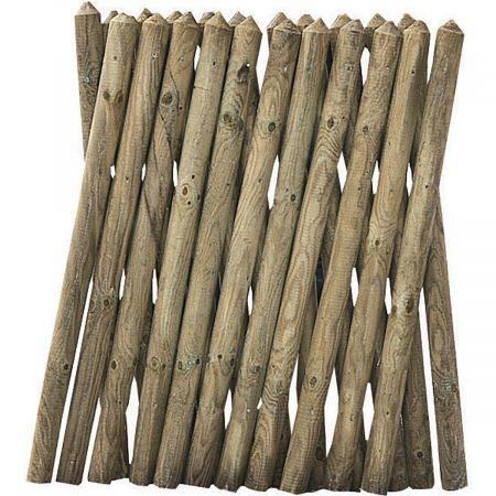 Clôture classique croisée en bois traité autoclave 3 - 250 cm x 80 cm - Pony