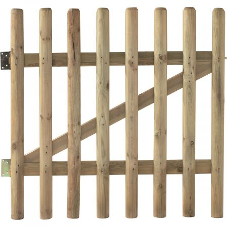 Portillon en bois traité autoclave 100 cm x 100 cm avec Chanière et Loquet - Buffalo
