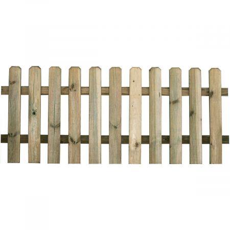 Clôture en bois traité autoclave classe III VERT - 180x80cm- MUSTANG