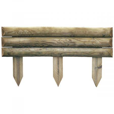 Bordures pour jardin en bois traité retenue de terre 60x110cm - Sauvage