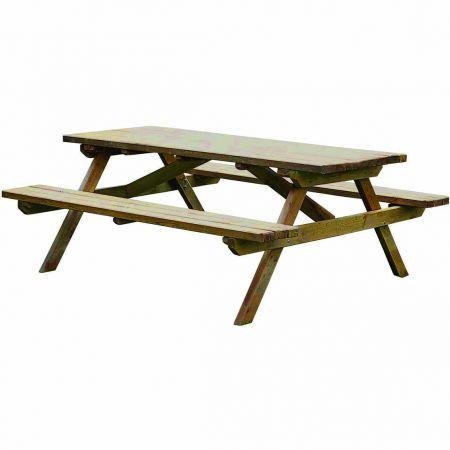 Table Pique-nique PICOLO – Traitée Autoclave Classe 3 – (150×152×75cm)