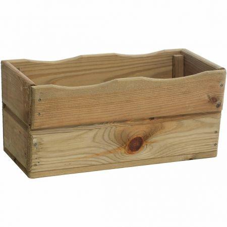 Bac à fleurs en bois traité autoclave classe 3 – (40 × 20 × H18cm/ 9L) - Hortense