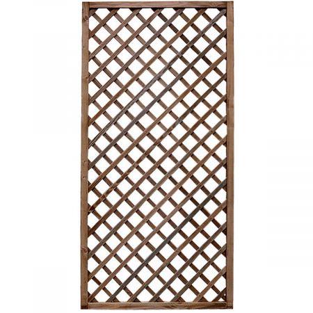 Treillis H 180 x l 90 cm - Epaisseur 3cm - bois traité MARRON classe 3- PREMICES