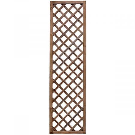 Treillis  60 cm x 180 cm,  - epaisseur 3cm - bois traité MARRON classe 3- Premices