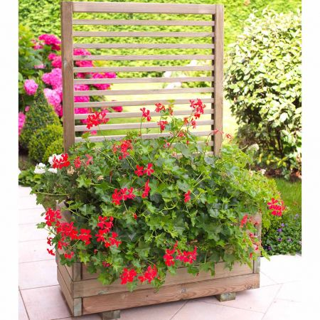 Bac à fleurs et plantes grimpantes – Bois traité Autoclave 3 – 80 x 39 x H120 cm/ 79 L - Cajou Modern