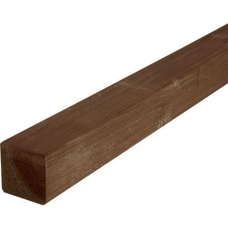 Poteau carré pour clôture de jardin en pin traité autoclave 3 marron - 9x9cm - hauteur 180cm