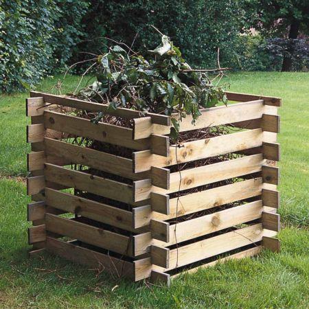 Composteur en Bois MEZZITO – Traité Autoclave Classe 3 - 100 × 100 × H72 cm