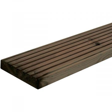 Lame de terrasse Marcelo couleur marron 28x145x2400mm Classe 3