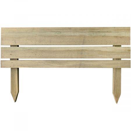 Bordure style MODERNE : droite en bois traité autoclave 3-30x80cm - Nova