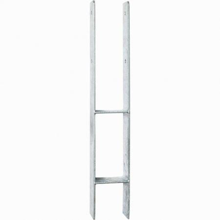 Support en H 12 x 12 cm, en acier galvanisé – 6 x 13 x H.60 cm
