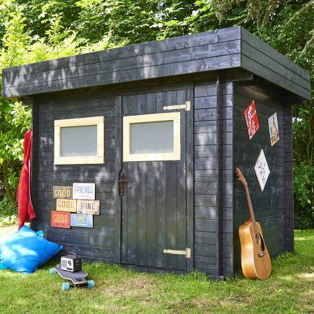 Abri de jardin bois MIKKI 4,8m², madriers 19mm