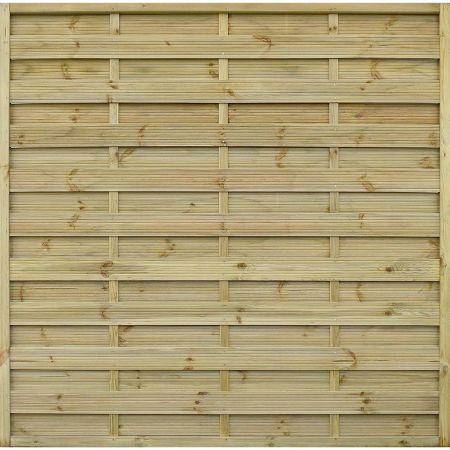 Panneau occultant de clôture en bois traité autoclave 3 - épaisseur 4cm - 180x180cm - FETICHE