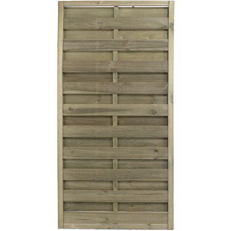 Panneau occultant de clôture en bois traité autoclave 3- épaisseur 4cm - 90x180cm - FETICHE
