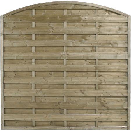 Panneau occultant de clôture avec finition arc en bois traité autoclave classe 3 -épaisseur 4cm - 180x180cm- FETICHE