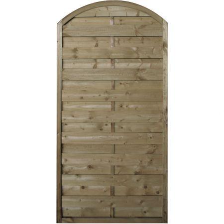 Panneau occultant de clôture avec finition en arc en bois traité autoclave classe 3 -épaisseur 4cm - 90x180cm- FETICHE