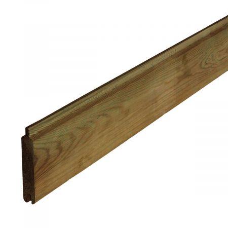 Lame a emboiter en bois traité autoclave classe 4 - 27x132x2000 mm - Cerland