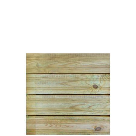 Dalle de Terrasse en Bois - JULIA - 500x500 mm - Traitée classe IV- Ep 35 mm