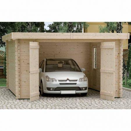 Garage bois PLUM 21,8m², madriers 44mm