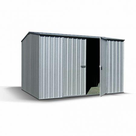 Abri de jardin en métal SHELBY, avec double porte – 300 x 152 x H. 200 cm - 4,56m²