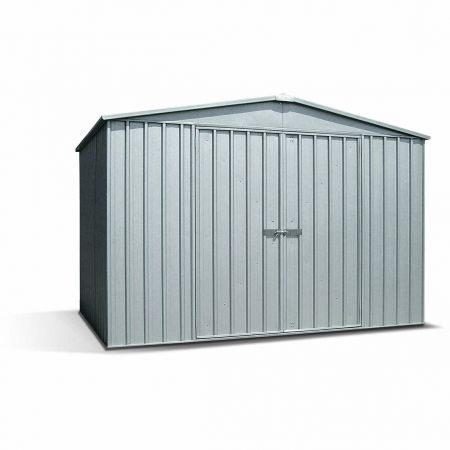 Abri de jardin métal BARKLY 6,4m², épaisseur 0,35mm, fermeture à loquet