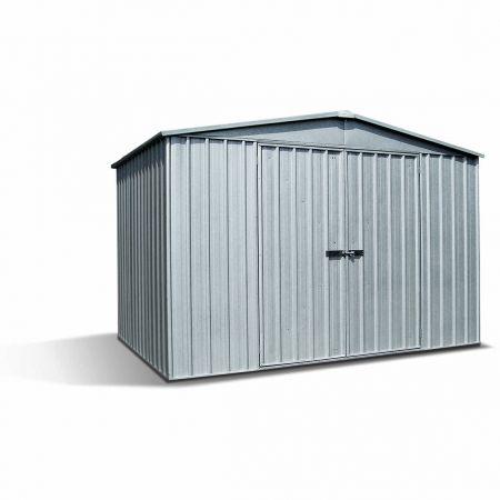 Abri de jardin métal DERBY 11.0m², épaisseur 0,35mm, fermeture à loquet