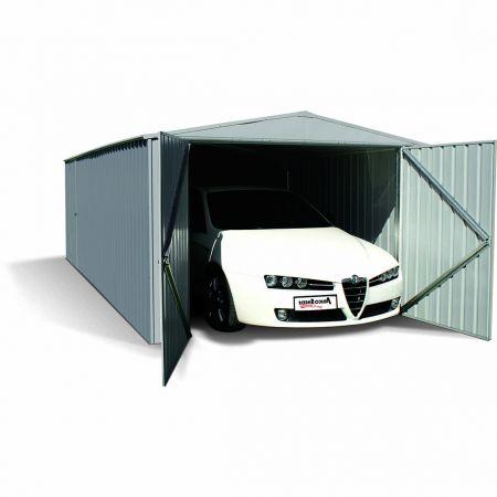 Garage MACKAY Métal, Resiste aux vents de 140km/h – 300 x 596 x H.206 cm- 17,88m²