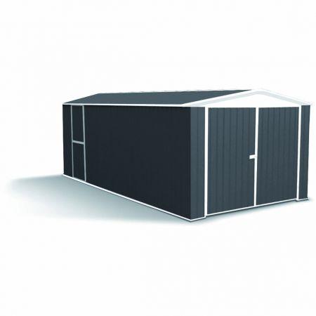Garage HERVEY Métal, Resiste aux vents de 140km/h – 300 x 596 x H.230 cm- 17,88m²