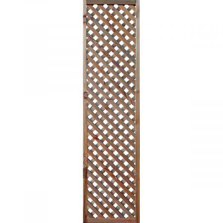 Treillis H 180 x l 45 cm - Epaisseur 3cm - bois traité MARRON classe 3- LEA