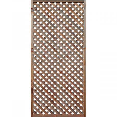 Treillis H 180 x l 90 cm - Epaisseur 3cm - bois traité MARRON classe 3- LEA