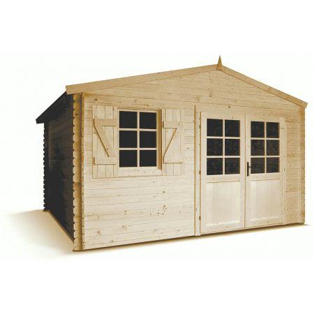 Abri de jardin bois LAGOR PLUS 15,8m², madriers 28mm