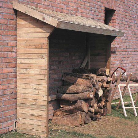 Bûcher en bois MEMPHIS 3m3, toit avec pente
