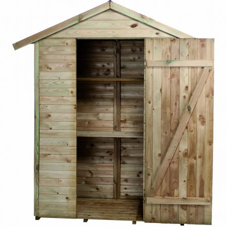 Armoire de jardin bois LEO 1,1m², 2 étagères