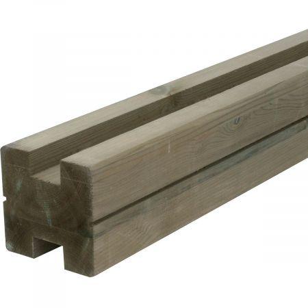 Poteau H pour lame 3,4cm-autoclave- 9x9x240cm  - Classe 4