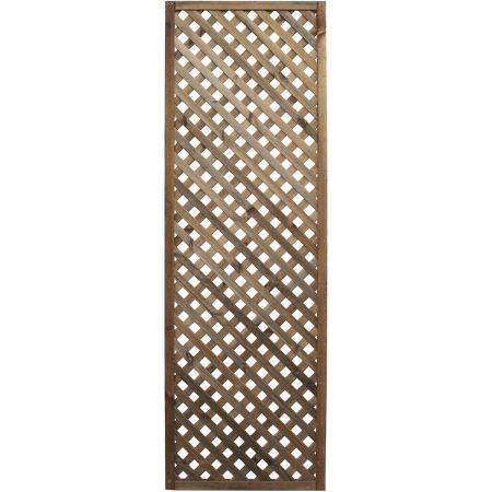 Treillis H 180 x l 60 cm - Epaisseur 3cm - bois traité MARRON classe 3- LEA