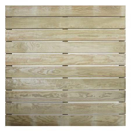 Dalle de terrasse en bois  traitement autoclave classe IV- Epaisseur 44mm - 1000x1000 mm -AMELIA -