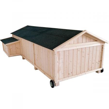 Poulailler simple en bois avec roulettes  4 à 6 poules 3m² - Lana