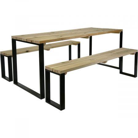 Table et  2 bancs 180 cm x 80 cm x 75 cm Epaisseur 3,5cm- 6 pers- Blakea