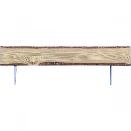 Bordure en bois style écorce naturelle traité autoclave 3- Ep 4,2cm- 110x30cm - Gaura