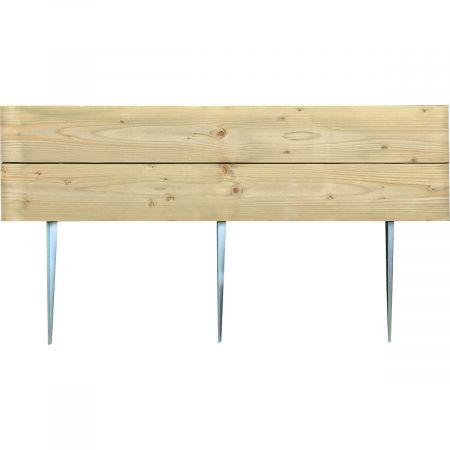 Bordure en bois traité à planter Ep 6,4 cm - 110x60cm - Nolina