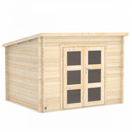 Abri de jardin bois AMAZONIE 7,4m², madriers 28mm