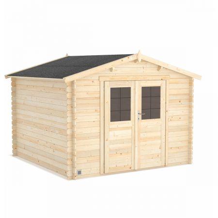 Abri de jardin bois VOLTA 8,9m², madriers 28mm