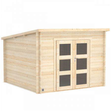 Abri de jardin bois DAINTREE 8,9m², madriers 28mm