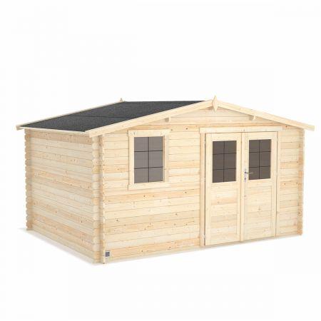 Abri de jardin bois ONEGA 11,9m², madriers 28mm