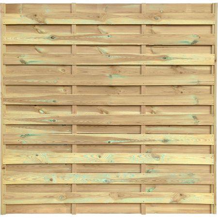 Ecran occultant en bois clair traité autoclave 3-  180x180 cm - Dina