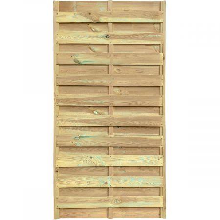 Ecran occultant en bois clair traité autoclave 3-  90x180 cm - Dina